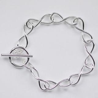 Изделия стерлингового серебра 925 925 извилистые круги цепочки примечание 8 серебряные браслеты браслеты H139