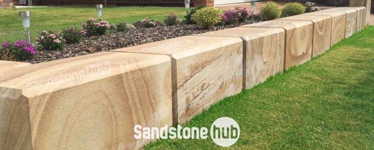 Sandstone Diamond Swan Blocks for Retaining Wall