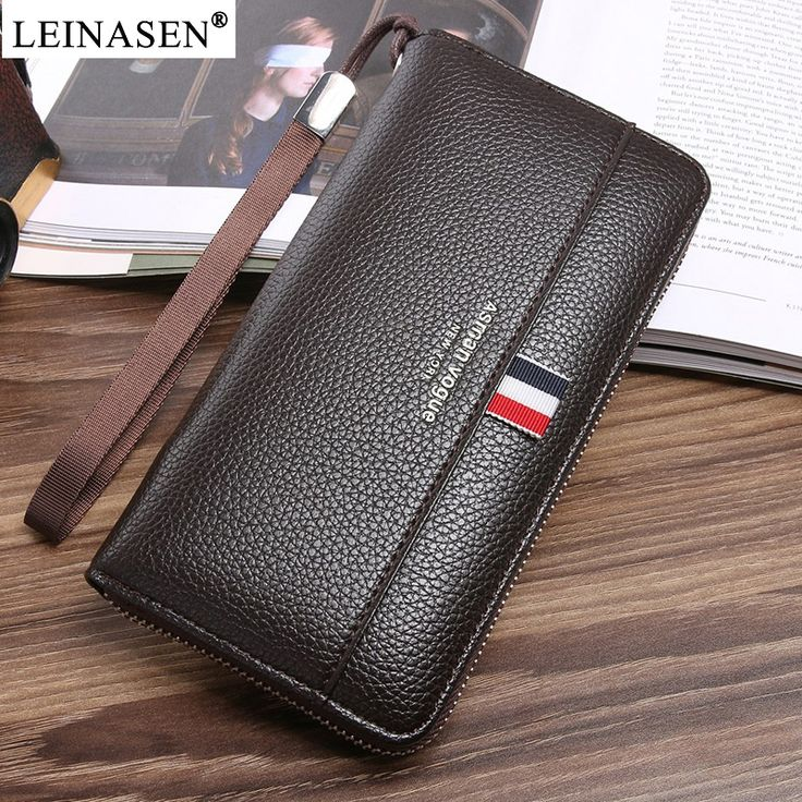2018 Casual Male PU Leather Purse Men's zipper Long Wallets Business Handy Bags New Fashion wallets multi Card Holder Phone bags. Yesterday's price: US $17.33 (14.06 EUR). Today's price: US $7.97 (6.47 EUR). Discount: 54%.
