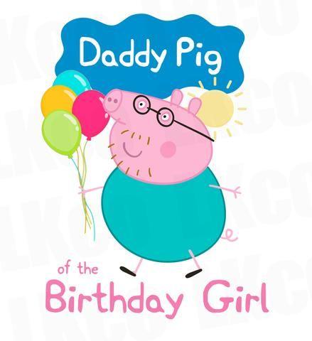 Peppa Pig - Daddy Pig Iron On Transfer Birthday Shirt