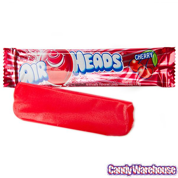 Cherry AirHeads Taffy Candy Bars: 36-Piece Box