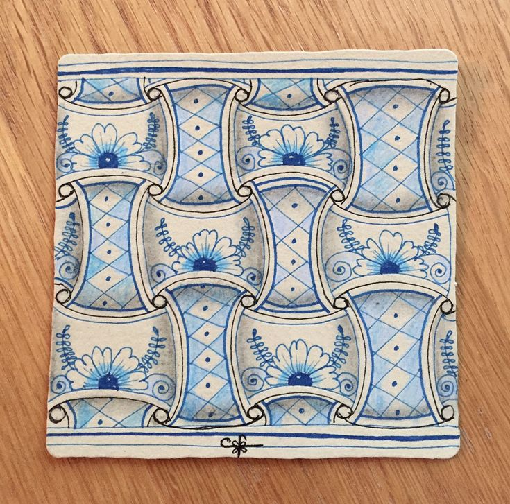 https://flic.kr/p/21ne3Mu | Delft Delights | 3.5 inch square tile.