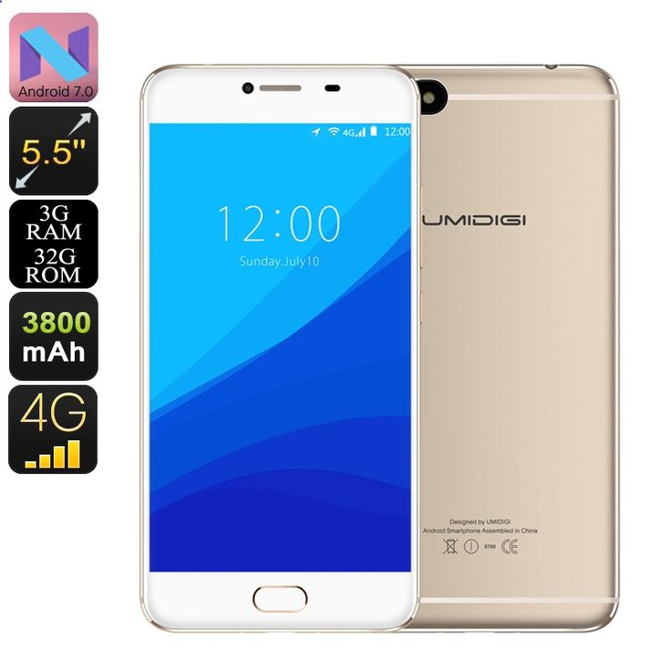 Cheap Smartphones - Preorder HK Warehouse UMIDigi C Note Android Smartphone - Android 7.0, Quad-Core CPU, 3GB RAM, Dual-IMEI, 4G, 13MP Cam (Gold) - UMIDigi C Note is a cheap Android phone that comes packed with a Quad-Core CPU, 3GB RAM, and runs on an Android 7.0 OS.