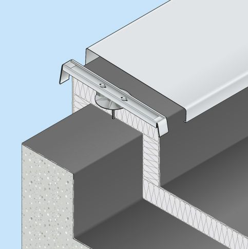 Capping flat roof COUVERNET® : EWIS WITH INSULATING PLATE DANI ALU