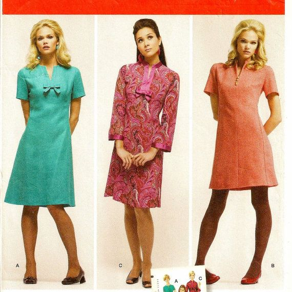 Modern fit 1960 s retro shift dress pattern uncut for today s s