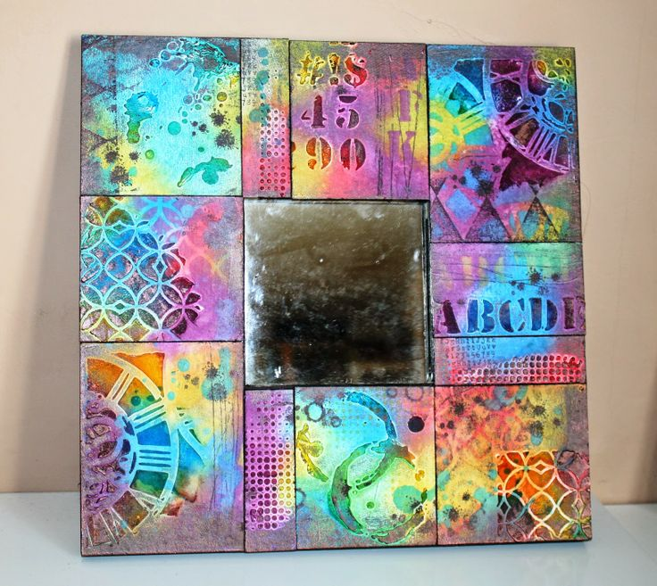 Playtime: Altered mirror using Layering stencils and Texture paste http://jassy-playtime.blogspot.co.uk/2014/06/altered-mirror-using-layering-stencils.html