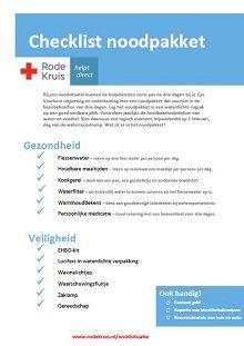 Goed voorbereid op extreem weer - Voorbereiding op noodsituaties - Rode Kruis