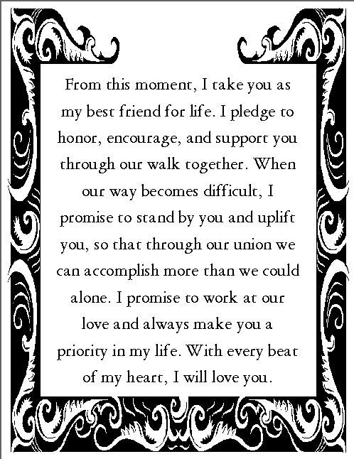 Best 25 wedding vows ideas on pinterest vows wedding promises romantic wedding vows examples for her and for him junglespirit Gallery