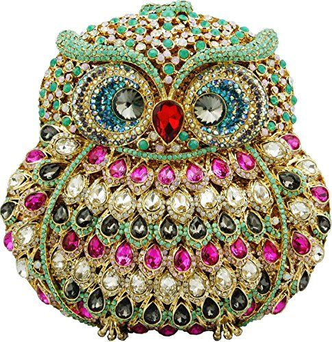 YoursFashion Luxury Crystal Colorful Owl Evening Handbags. Luxury Jewelry Owl Shape Clutch with High Quality Sparkling Crystal on Both Sides. 50CM Detachable Goden Coated Chain. Good Packing for Long Distant Transport, Gift Wrap is Available. 2-5 Days for Lead Time. 2-4 Weeks For Shipping Via China Post or Hongkong Post. Order Over $200.00 Will Ship Via Express Such as DHL,UPS,EMS,etc.