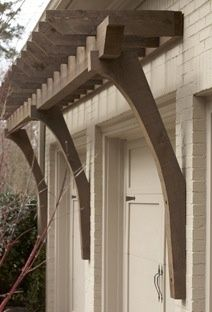 pergola front porch tudor - Google Search