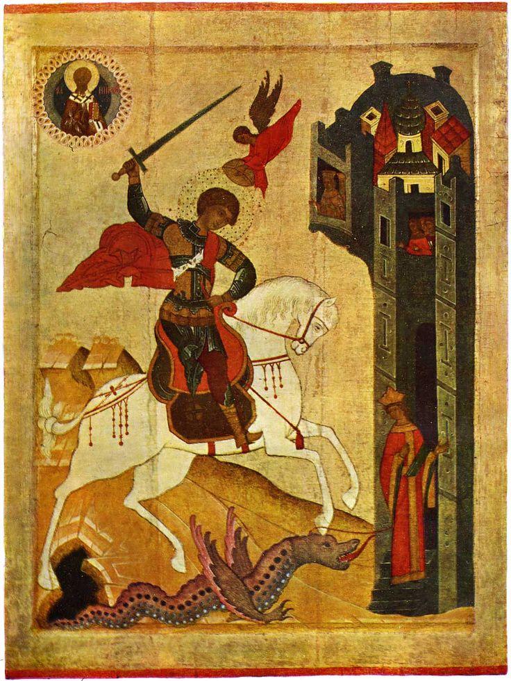 icons of novgorod and Pskov - Поиск St George the Dragon Slayer