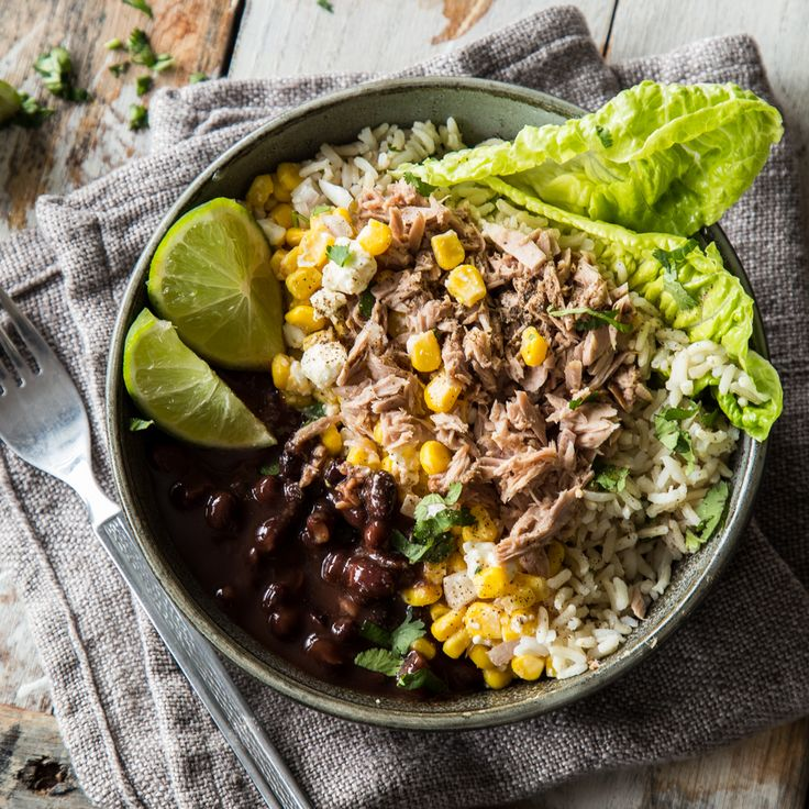 Mexikanischer Touch in deiner Schüssel! Thunfisch Burrito Bowl
