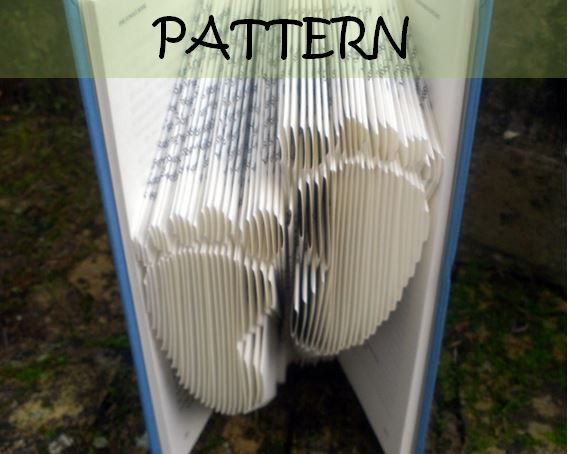 Book folding Pattern: FOOTPRINTS design (including instructions) – DIY gift – Papercraft Tutorial