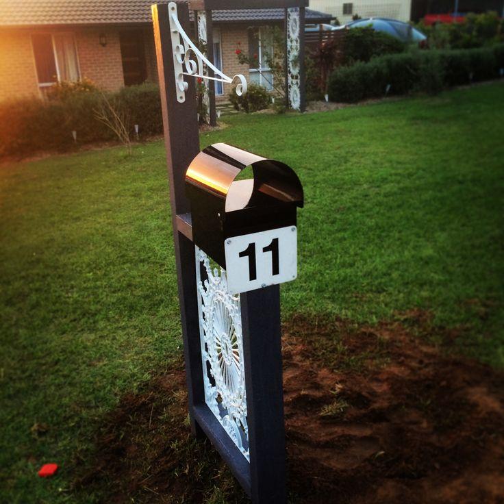Vintage upcycled wrought iron mailbox #mikaalpacaanddesign #australiandesigner