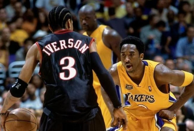 Sixers against lakers . Nba finals 2001.