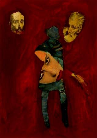 5- ART in PAPER  Pintura Mixta Collage Tamaño 30x21cm  http://www.crisacqua.com