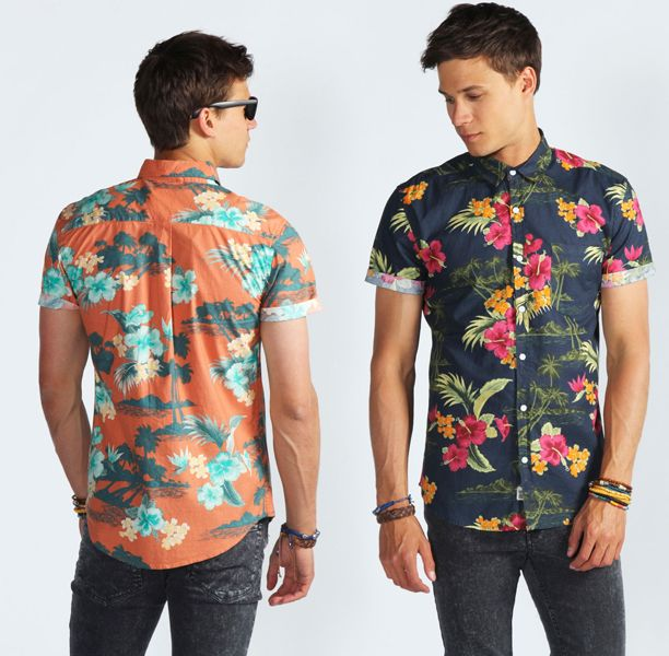 Floral shirts for men. Love em.