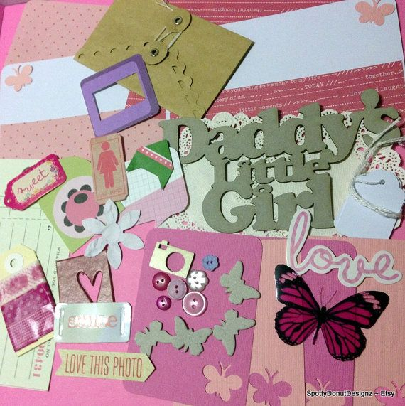 DADDYS_GIRL srapbooking page kits project by SpottyDonutDesignz, $14.50