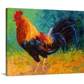 Mr Big Rooster by Marion Rose Painting Print on Wrapped Canvas