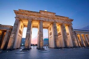 Brandenberg Gate outside the Hotel Adlon in Berlin, Germany #travel