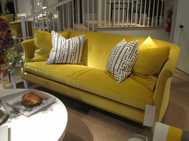Love This Bright Yellow Sofa...makes Me Happy:)