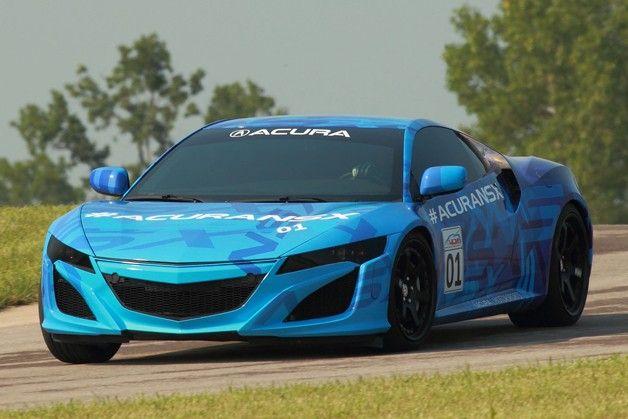 Snapshots from Acura NSX prototype run at Mid-Ohio