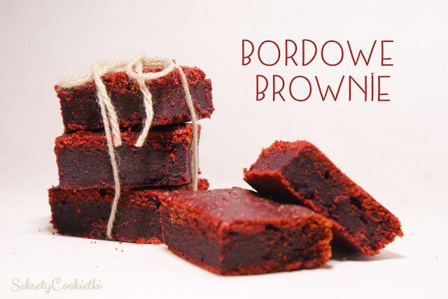 bordowe brownie