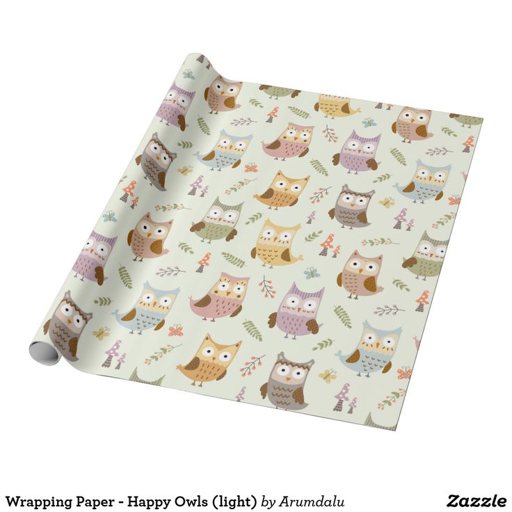 Wrapping Paper - Happy Owls (light)