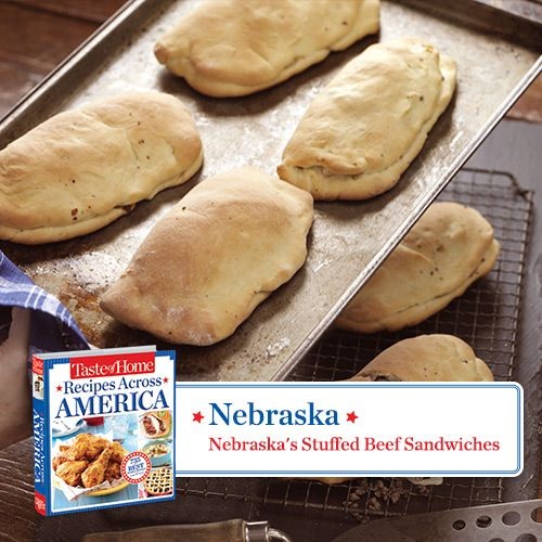 50 States in 50 Days:  Nebraska :: Nebraska's Stuffed Beef Sandwiches Recipe from Taste of Home.    Find regional Midwestern recipes like this one and more in our new cookbook, Recipes Across America---->  http://www.tasteofhome.com/rd.asp?id=22997