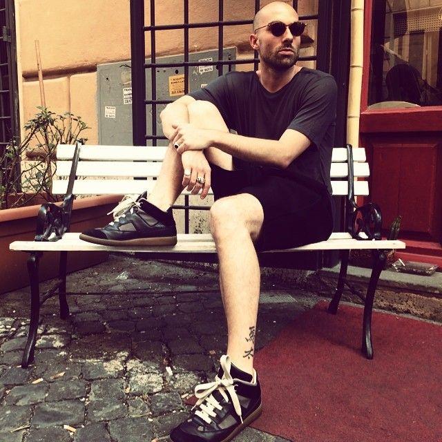 #tshirt#dgnak, #shorts#neilbarrett, #shoes#martinmargiela, #sunglasses#shopping