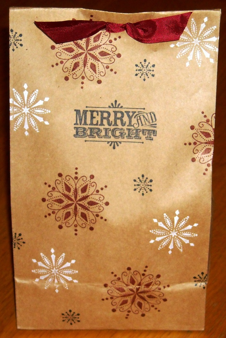 Brown Paper Lunch Sacks Turned Into Gift Bags