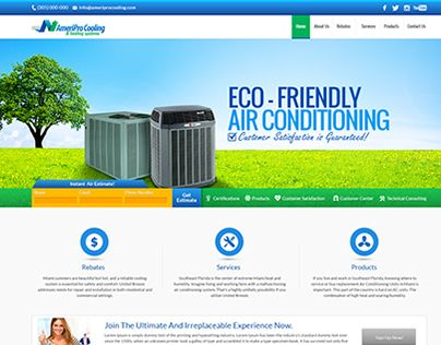 "Check out new work on my @Behance portfolio: ""American Coolling WEB DESIGN"" http://on.be.net/1l3aT1R"