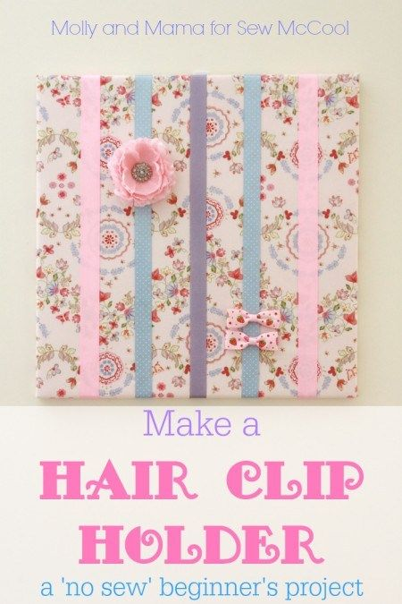 DIY hair bow holder on a canvas | Indie Crafts | CraftGossip.com