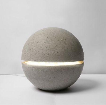 Lampe Gayalux Lamp By Xiral Segard: Concrete lamp. #Lamp #Xirai_Segard