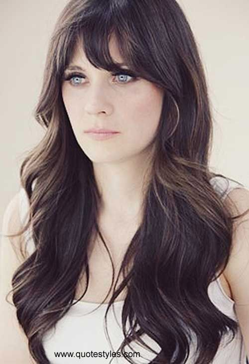 How do you cut a layered hairstyle with bangs?