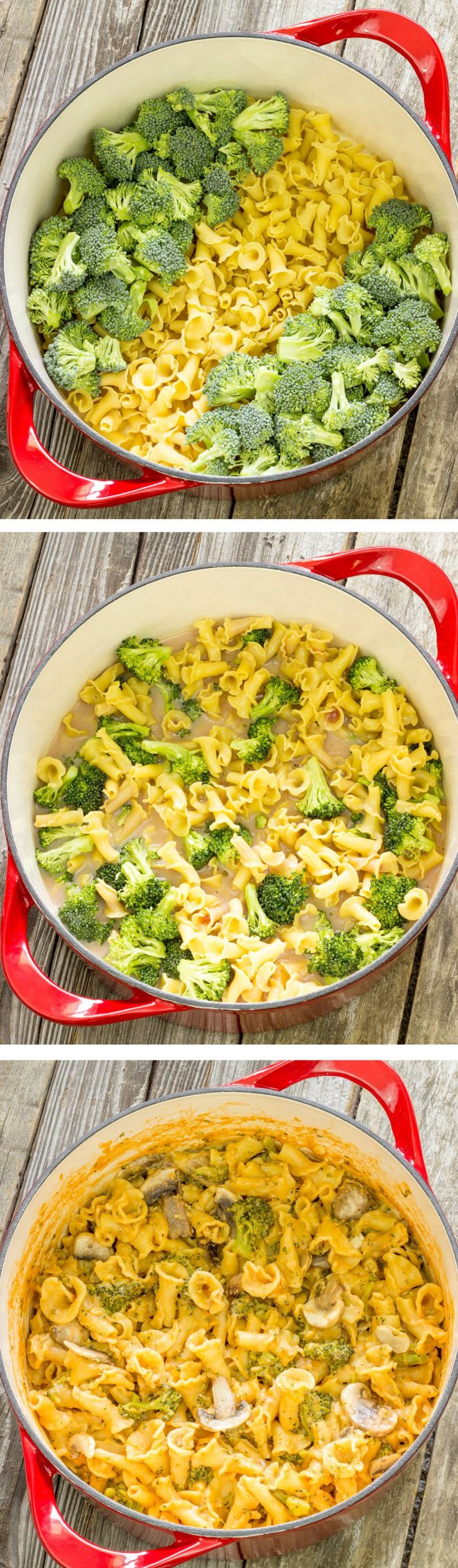 One Pot Wonder Pasta Con Broccoli...I doubled the garlic and broccoli and browned some chicken in the pan before I started then continued from there