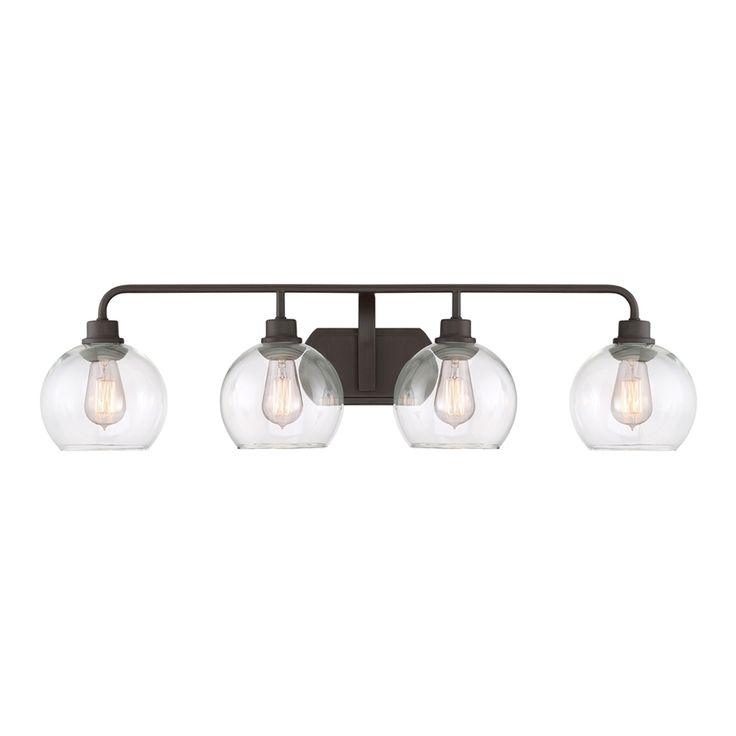 Ashley Harbour 4-Light 9.5-in Old Bronze Orb Vanity Light
