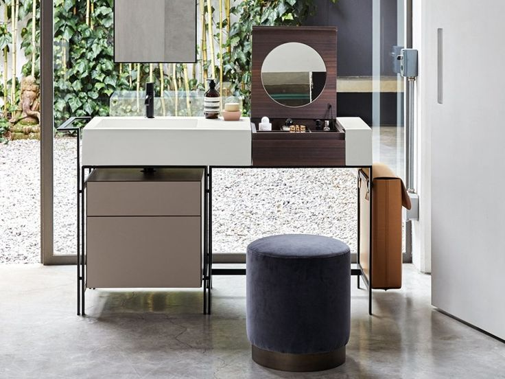 Floor-standing vanity unit with drawers NARCISO by Ceramica Cielo design Andrea Parisio, Giuseppe Pezzano