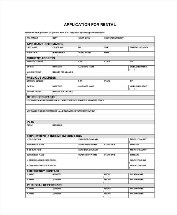 Tenant Application Form Check More At Https Cleverhippo Org Tenant Application Form Rental Application Business Template Application Form