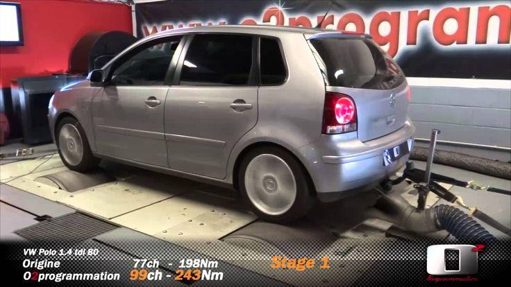 VW Polo 1.4 tdi 80@100 reprogrammation moteur stage 1