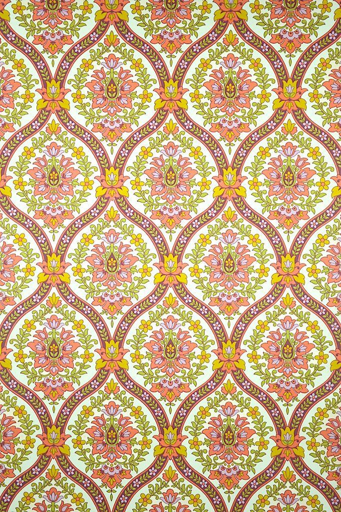 Pink Baroque Wallpaper