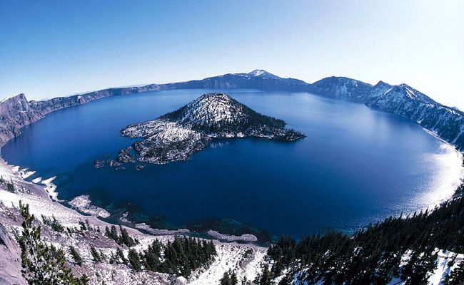 Lago Crater, Oregon, Estados Unidos...