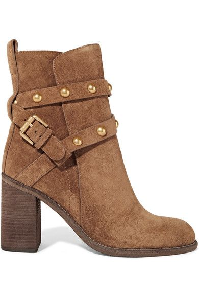 See by Chloé | Studded suede ankle boots | NET-A-PORTER.COM
