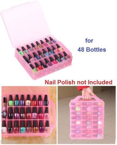 Nail Practice and Display: Organizer Nail Polish Holder Display Container Case Storage 48 Bottles Diy Salon -> BUY IT NOW ONLY: $34.0 on eBay!