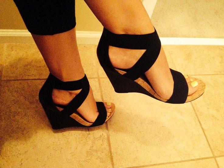 BCBG black shoes / wedges, love! Summer feet :-) 2014 spring / summer collection