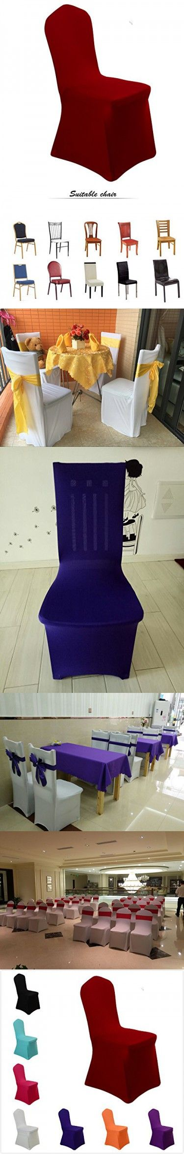 Uniquemystyle Stretch Polyester Spandex Dining Chair Cover For Wedding Banquet Party Many Colors Burgundy