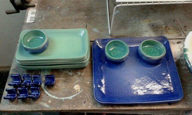 Juego de Sushi en ceramica | Taller El Guatan