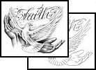 Faith Tattoos Bird Animal Dove Religious