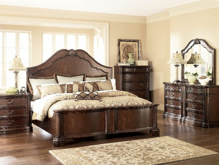 2 Millennium By Ashley Camilla King Panel Bedroom Suite B622 King With A Rich Finish