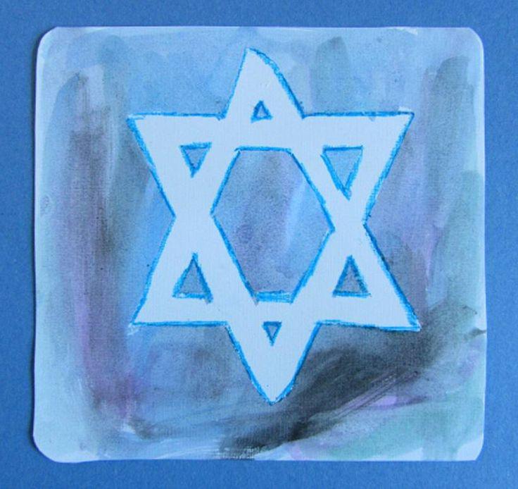 toddler hanukkah craft star of David completed